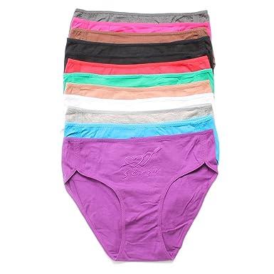 61ncxoSUxiL._UX385_ grace's 12 pack women's underwear plus size available at amazon,Womens Underwear Amazon