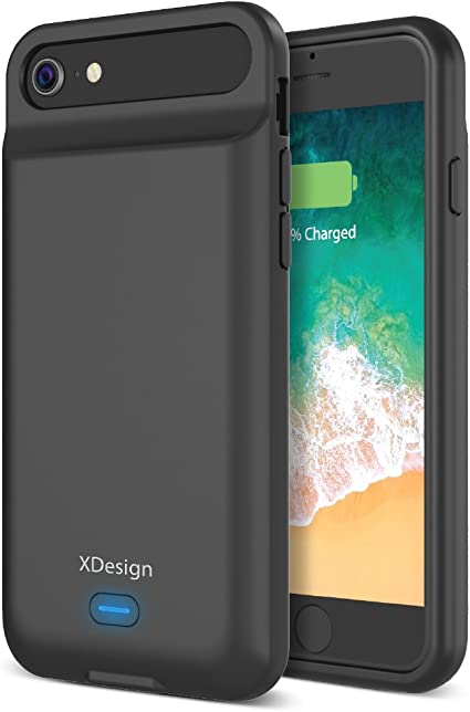 XDesign [Upgraded] iPhone 8 7 6S 6 Battery Case, 3000mAH Lightning Port Apple iPhone 8/7/6S/6 Battery Case Portable Backup Battery Power Bank ...