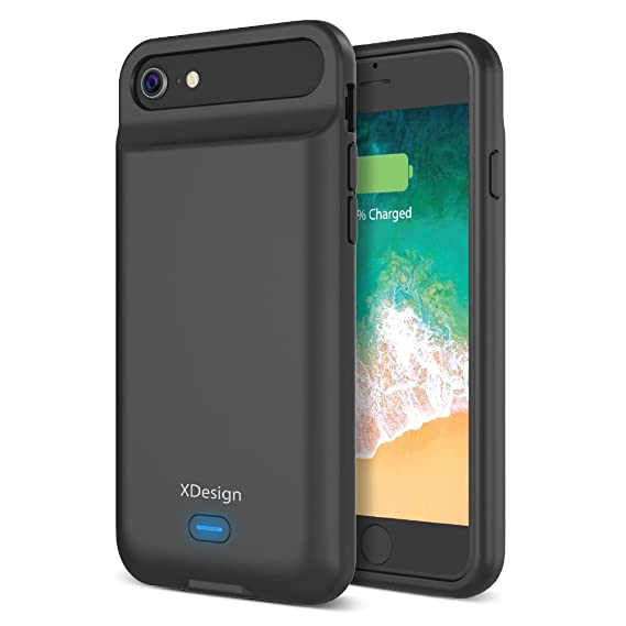 new arrival c530b e53e0 [Upgraded] XDesign iPhone 8 7 6S 6 Battery Case, 3000mAH Lightning Port  Apple iPhone 8/7/6S/6 Battery Case Portable Backup Battery Power Bank ...