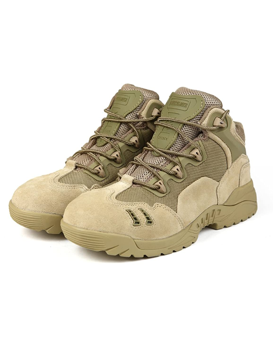 FREE SOLDIER Men Outdoor Sport Hiking Shoe Breathable Low-upper Tactical Boots
