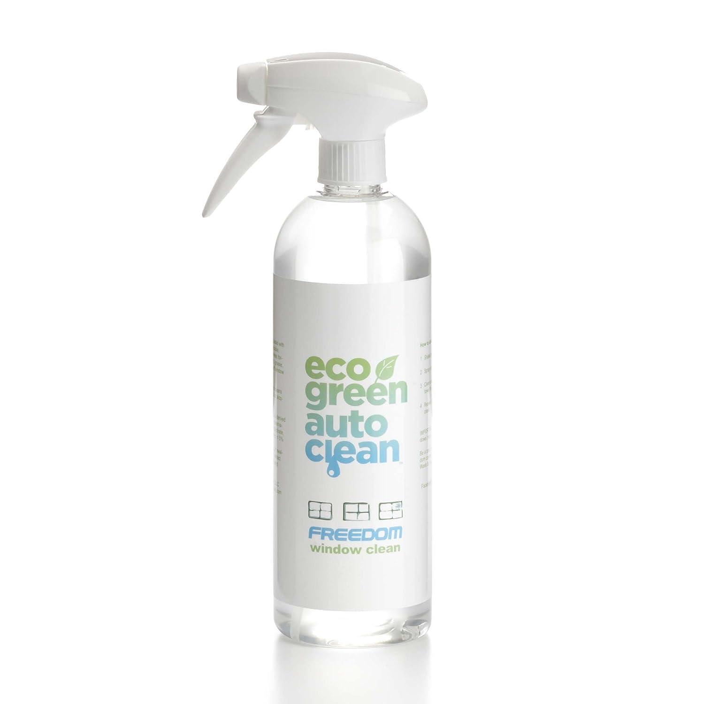 Eco Green Auto Clean Auto Wash Waterless Car Cleaner - Ammonia Free, Biodegradable & Eco Friendly   Car Wash for Windows, Windshield, Bumpers & Wheels   Tint Safe & Streak Free, 750 ml FWC-RTU-25oz-750ml