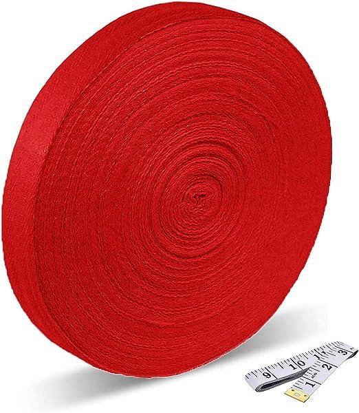 Cinta de algodón de 50 metros y 2,5 cm de anchura, cinta bies de ...