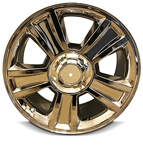 New 20 Inch Chevrolet Silverado 1500 Avalanche Suburban Tahoe 6 Lug Replacement Chrome Wheel Rim 20x8.5 Inch 6 Lug 78.1mm Center Bore 31mm Offset (Lug 6 Suburban)