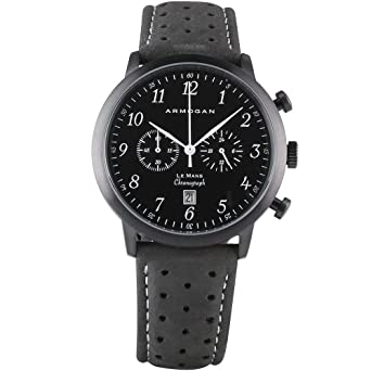 Le Black Midnight Montre Armogan Homme Chronographe Mans C21 Nvm80nw
