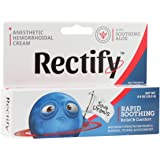 Rectify - Anesthetic Hemorrhoidal Cream For Rapid Soothing Relief, Comfort, and Hemorrhoid Treatment - 0.9oz (25.5g) - FDA Approved from Purity Products