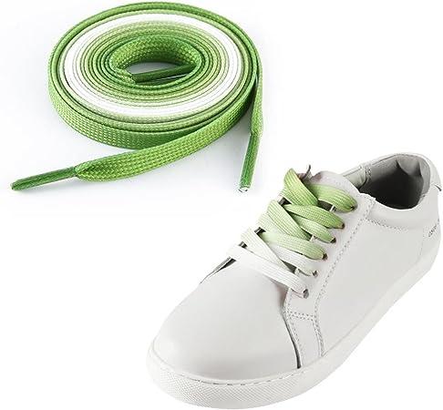 2 teintes 2 Paires 100 cm Lacets Ronds Noir Blanc//Noir Gris Baskets Chaussures De Skate