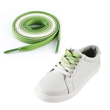 super populaire cce96 7ad09 Kobwa 1 paire 100cm dégradé multi couleur lacets chaussures lacets de mode  colorés unisexe femmes hommes lacets pour les loisirs sportifs durable et  ...
