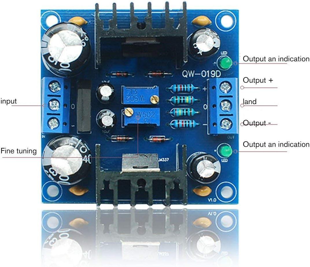 LM317 LM337 Positiv und Negativ Dual Power Einstellbare Netzteilplatine Gleichrichter und Filter Netzteil DIY Kit Farbe: Blau # 1