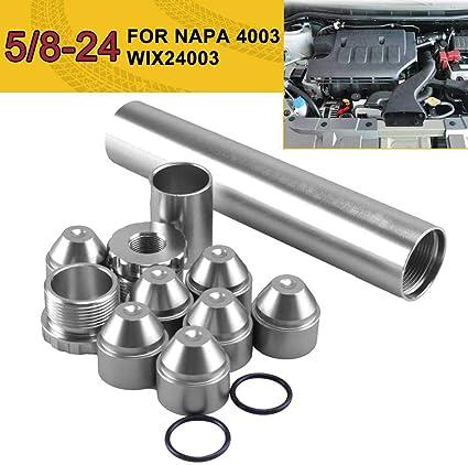 Womdee Filtro de Combustible para Coche para Uso automotriz Solamente 13 Piezas de aleaci/ón de Aluminio 1//2-28-5//8-24 24003 4003 Filtro de Combustible automotriz