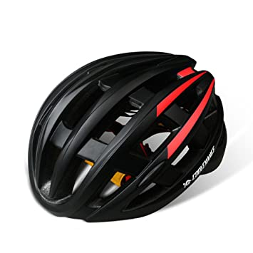 Qarape Ultra ligero con luces traseras de seguridad Casco de ciclismo Casco de ciclo multiusos Deportes
