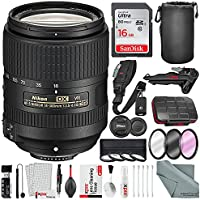 Nikon AF-S DX NIKKOR 18-300mm f/3.5-6.3G ED VR Wide-Angle to Telephoto Lens and Advanced Bundle with Xpix Professional Cleaning Kit + 16GB + More