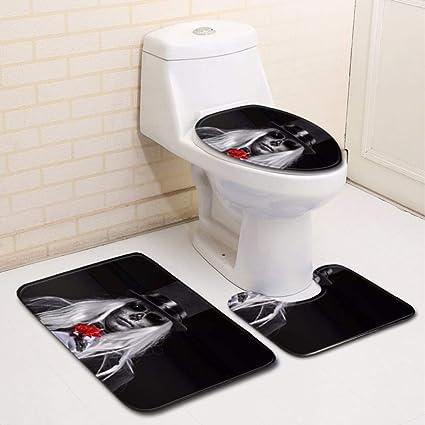 Bathroom Rugs That Absorb Water.Amazon Com Luckyjie Bathroom Rug Mats Set 3 Piece Blood Handprint