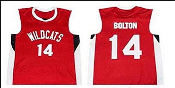 Boriz Zac E Troy Bolton 14 East High School Wildcats Red Basketball Jersey  (38) 1d8f790df