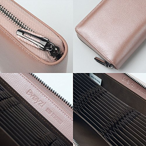 36 Credit Card Holder Wallet Leather RFID Women Card Case Organizer Purse (Rose Gold) by Bveyzi (Image #4)