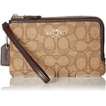 COACH Women's Signature Double Corner Zip Bag