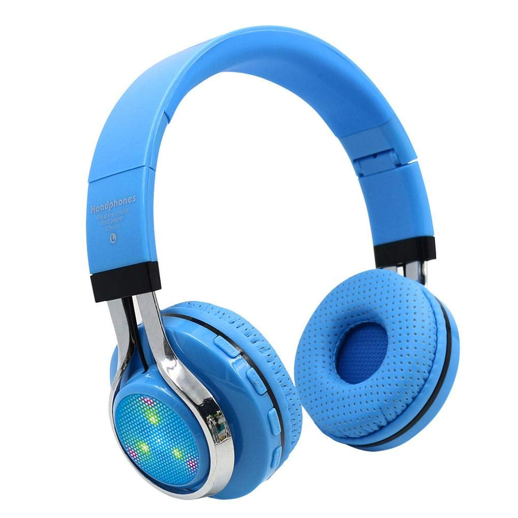 Sonmer STN-18 Wireless Bluetooth 4.1 Noise Cancelling Stereo Foldable Over Ear Headphone,for Iphone Android Smartphone Tablet PC,With Microphone FM Function (Sky Blue)