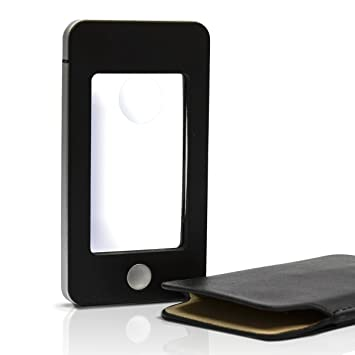 Amazon Leselupe Mit Beleuchtung | Eyepower Lupe Leselupe Handy Optik 4 Led Kaltweisslicht 1 75x 4x