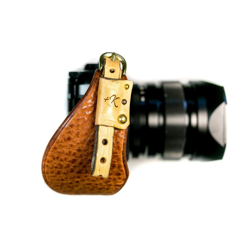 カメラハンドストラップ/ミラーレス仕様/ヴィンテージタン【本革レザー製ハンドメイド】   B07KYWPZBY