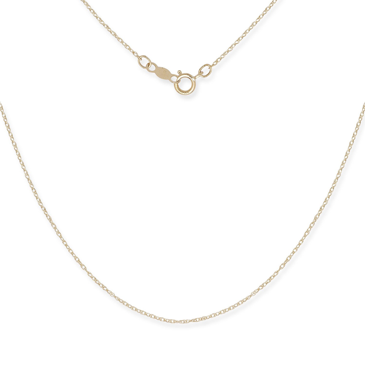 972e11aebfdb5 JewelryWeb Solid 14k Gold Women's 16-22 Inch Carded Rope Chain Necklace  (Yellow or White)