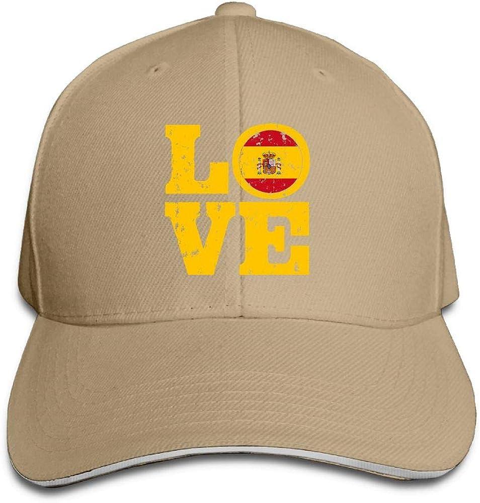 Love Spain Snapback Sandwich Cap Adjustable Baseball Hat Street Rapper Hat
