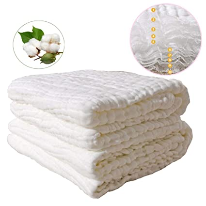 10 capas Full algodón bebé Toallitas toalla, super extra suave absorbente toallas para bebé