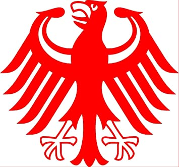 Bundesadler AUTOAUFKLEBER Deutschland Adler Folie Aufkleber Decal Bumper Sticker