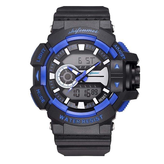 Rcool Relojes suizos relojes de lujo Relojes de pulsera Relojes para mujer Relojes para hombre Relojes deportivos,Reloj deportivo multifunción luminiscente ...