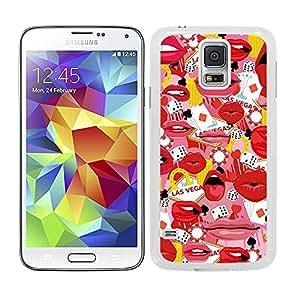 Funda carcasa TPU (Gel) para Samsung Galaxy S5 diseño sticker bomb, bomba de pegatinas modelo 4 borde blanco
