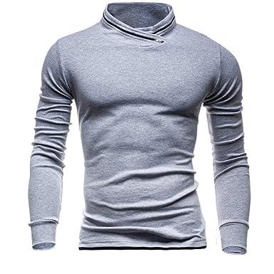 Suéter De Los Hombres Ursing Color Sudaderas Invierno Otoño Sólido Ajustadas Camisetas De Cómodo Deporte Camisa De Ocio Blusa Manga Larga De Los Hombres ...