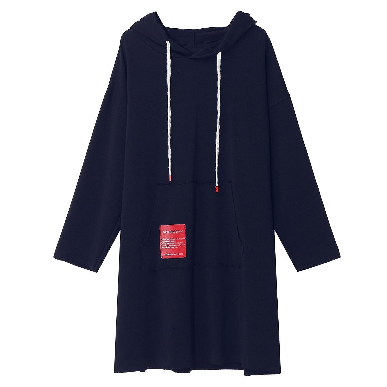 SIMSHION Clearance!!! Women Casual Loose Hoodies Fashion Letters Print Long Sweatshirts Outside Wear Coat