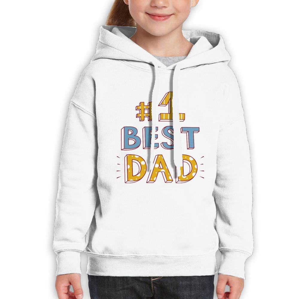 SmallHan Girls Best Dad Classic Climbing White Sweater