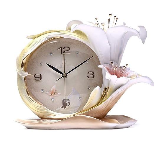 YONGMEI Reloj - Mesa de Mesa Creativa Sala de Estar estéreo Reloj ...