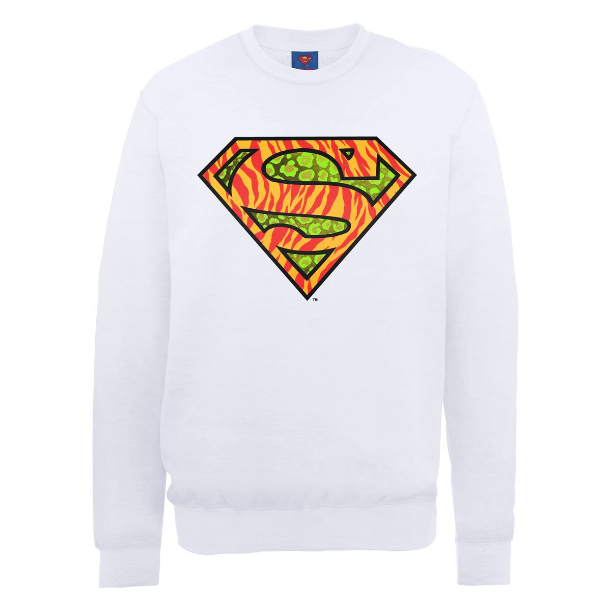 Mens DC0001036 DC Comics Official Superman Wild Logo Crew Neck Long Sleeve Sweatshirt DC Comics Low Shipping Cheap Online Cheap Sale Low Price Buy Online Authentic 64mt8