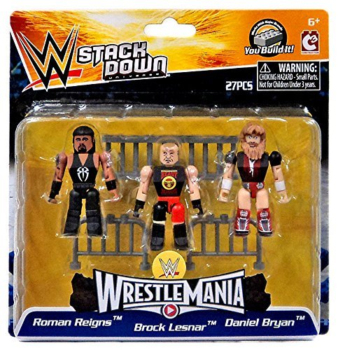 [C3 Construction] C3 construction WWE Wrestling StackDown Roman Reigns Brock Lesnar & Daniel Bryan Minifigue 3Pack [WrestleMania] [parallel import goods] by C3 construction