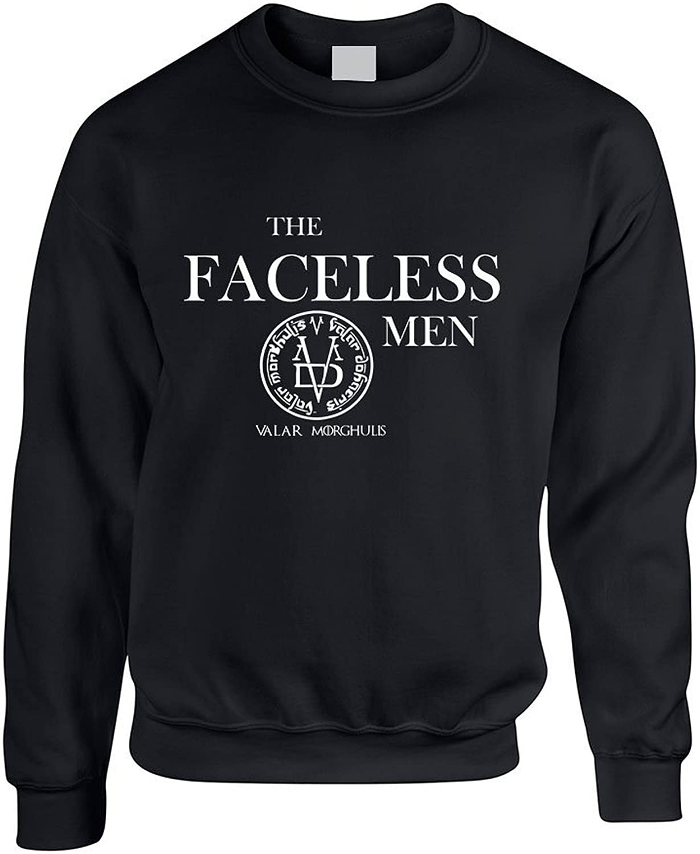 ALLNTRENDS Adult Crewneck Sweatshirt The Faceless Men Valar Morghulis L, Black
