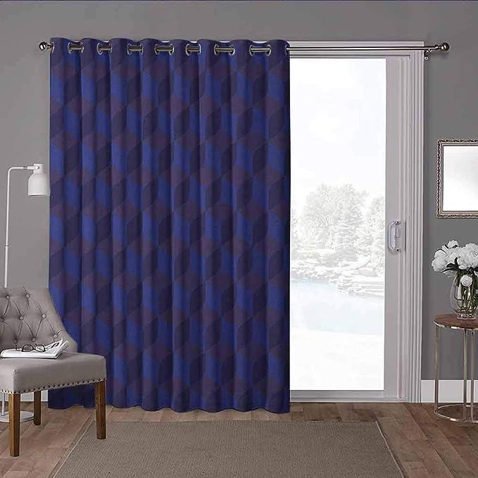 2 Panel 3D Print  Blackout Window Curtains Room Divider Decorative Curtain