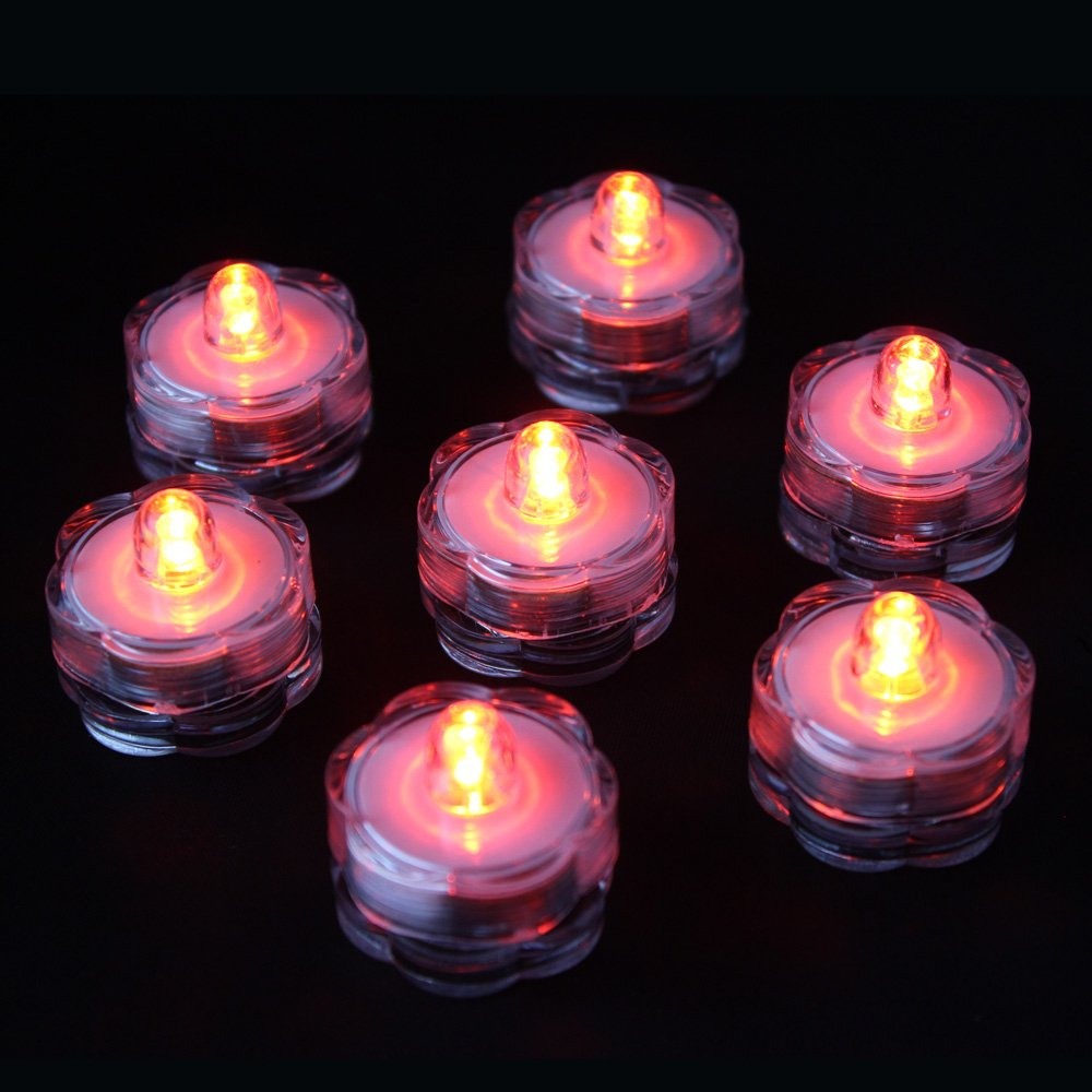 ARDUX LED Waterproof Submersible Tealights Flameless Tealights for Wedding Party Floral Home Decoration (Pack of 12, Blue)