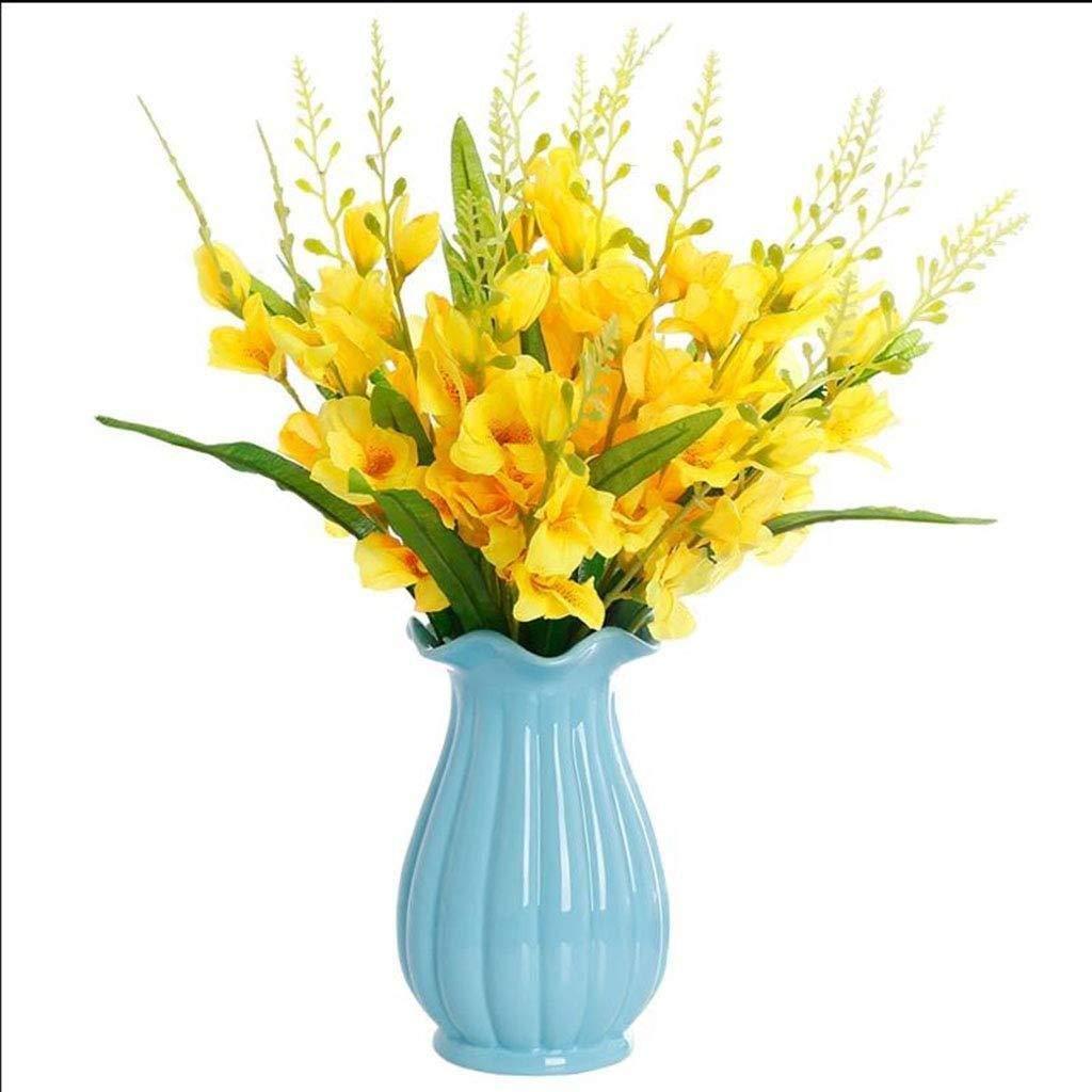 ホームオフィスの花屋のレストランのテーブルの装飾のための陶磁器の花瓶の植木鉢の植物の容器 (色 : B) B07RTBD887 B