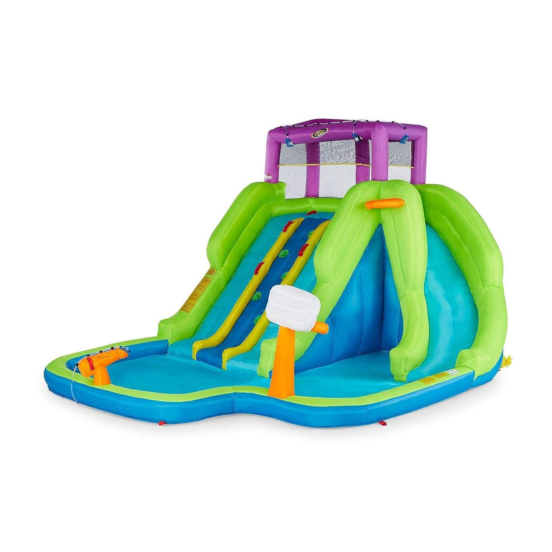 Kahuna Triple Blast Kids Outdoor Inflatable Splash Pool Backyard Water Slide