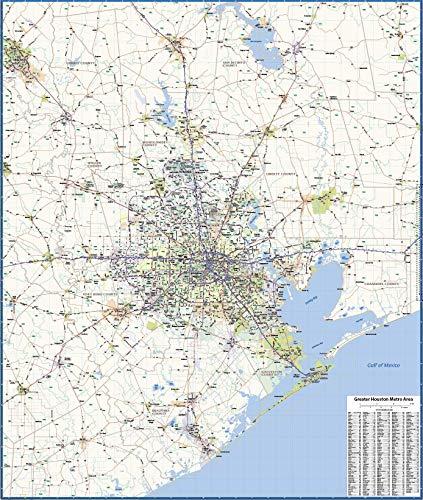 Houston Metro Area Laminated Wall map (42