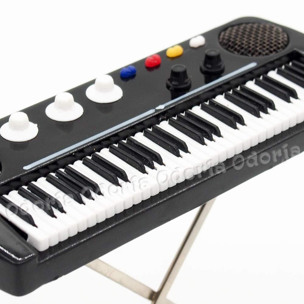 Amazon.es: Odoria 1/12 Miniatura Teclado Electrónico con Caso Instrumento Musical para Muñecas: Juguetes y juegos