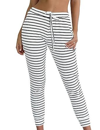 SIMPLEWORD - Pantalones de Yoga para Mujer, Color Blanco y ...