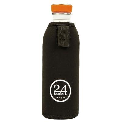 24bottles Étui en néoprène Gourde en acier inoxydable 500ml Protection Thermal Cover, noir