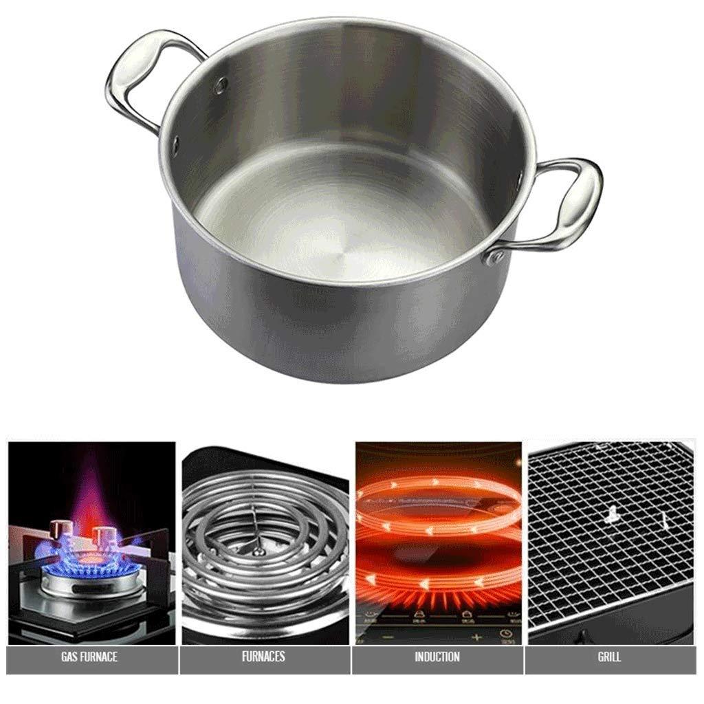 Olla JXLBB Sopa de Acero Inoxidable 304 Engrosada Doble Fondo Antiadherente Cacerola de Sopa Cocina de inducción de Gas Universal: Amazon.es: Deportes y ...