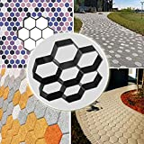Concrete Walk Maker Mold 11.5'x11.5'x1.7', CBTONE Concrete Stepping Stone Mold Reusable Garden DIY Paving Pavement Stone Mold - Hexagon Patterns