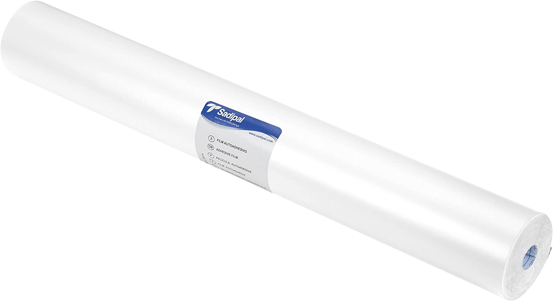 color blanco Sadipal 06802 Rollo pl/ástico adhesivo 0.50 x 20 m