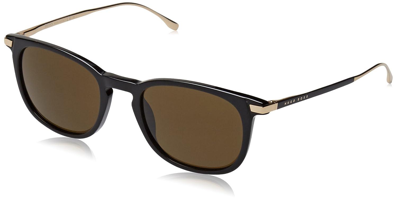 Amazon.com: Hugo Boss anteojos de sol 0783 en negro y dorado ...