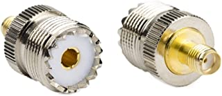 (Pack of 2)RF Coaxial Coax Adapter - SMA Female to UHF Female SO-239 SO239 Connector for Baofeng UV5R and GT3-TP Radios PL259 to Base Station Antenna