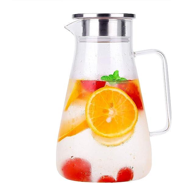 Himaly Jarra de Agua Cristal 1,8 litros Agua Jarra Botella de ...