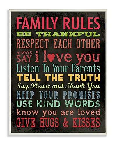 The Stupell Home Decor Collection Family Rules Chalkboard Style
